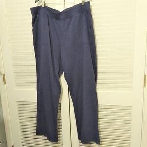 Coldwater Creek Indigo Blue Knit Lounge Pant NWT